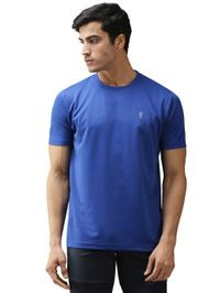 EPPE Men's Round Neck Half Sleeve Royal Blue Dryfit Micropolyester Active Performance Sports Tshirt