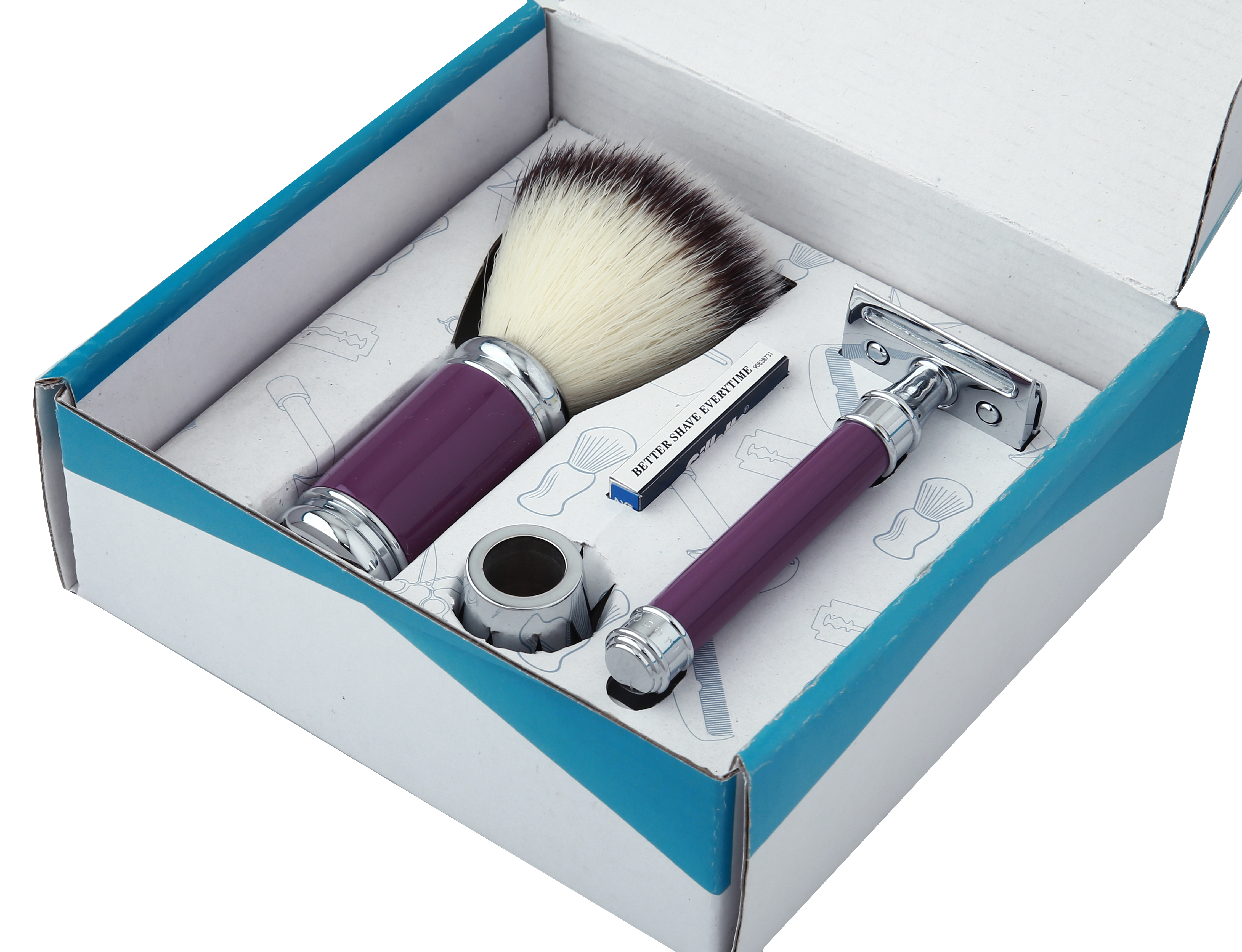 Pearl Shaving Razor & Brush Sets SRS (SRS-A141PURPAL)