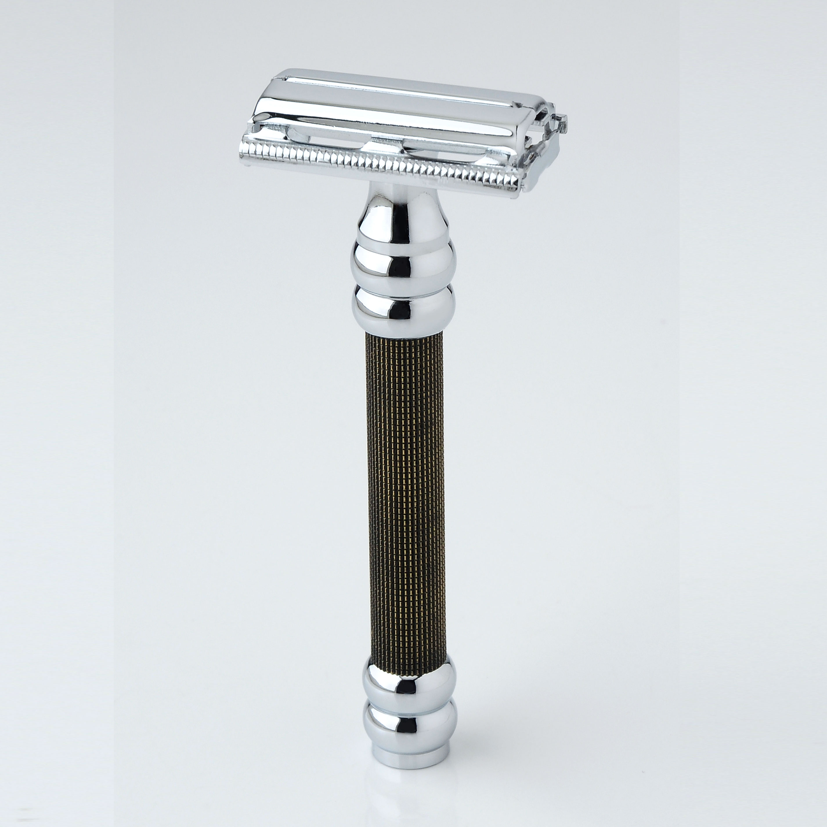Pearl Shaving Double Edge Butterfly Safety Razor SBF-11 (Gold Black)