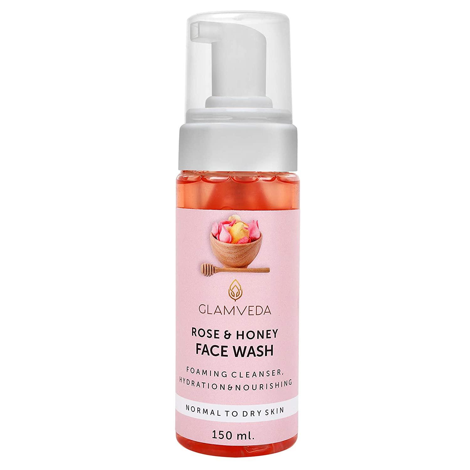 GLAMVEDA ROSE & HONEY HYDRATING FOAMING FACE WASH