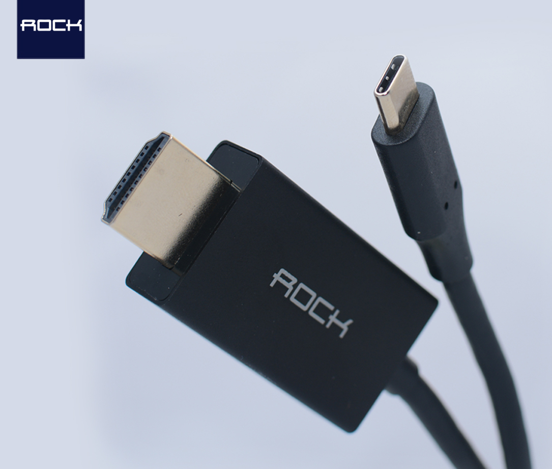 ROCK TYPE C TO HDMI CABLE_Black