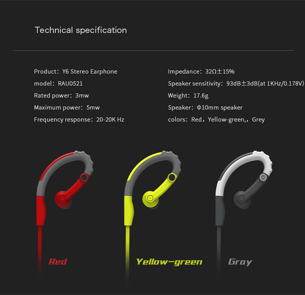 ROCK SPACE Y6 STEREO EARPHONE