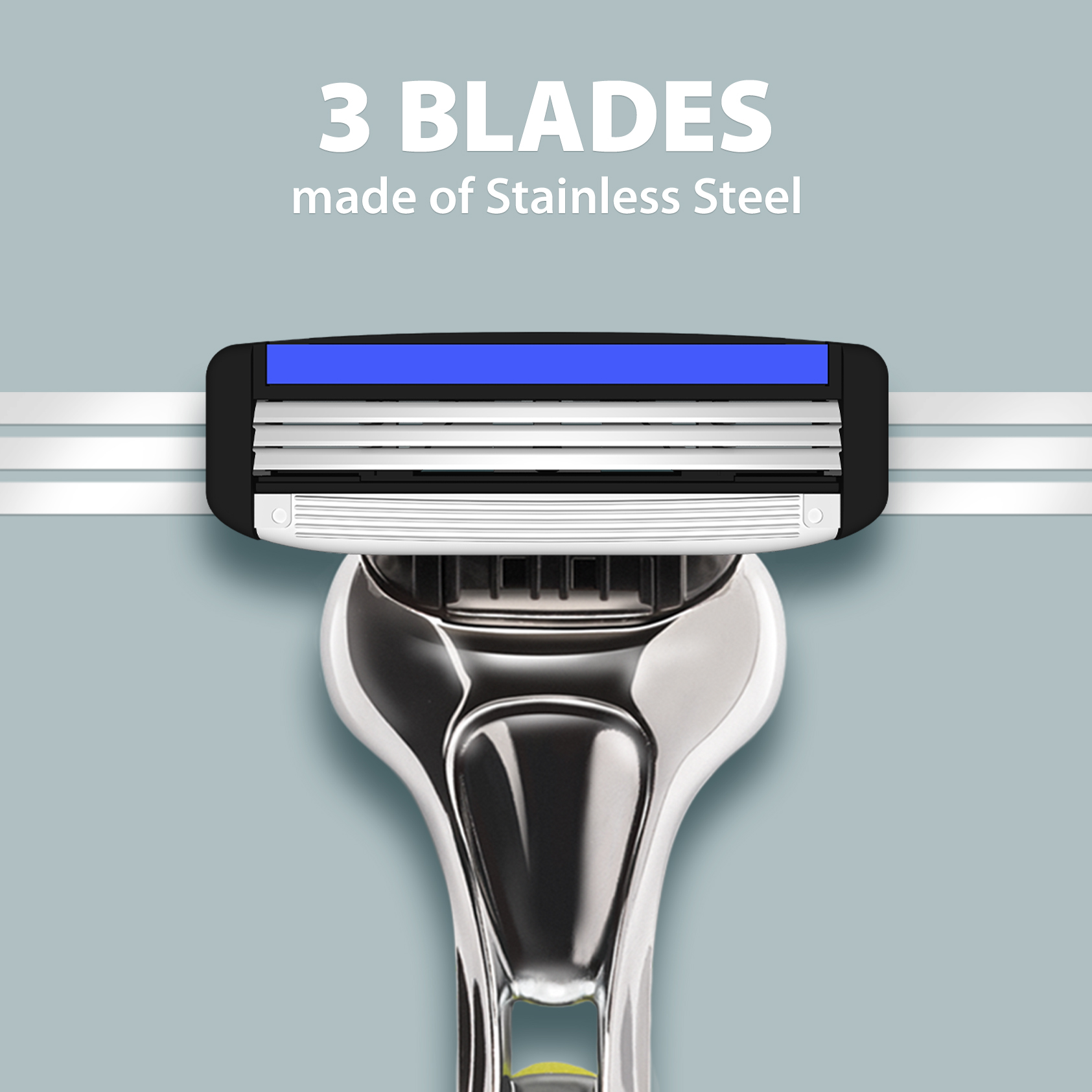 LetsShave Pro 3 Replacement Cartridges - Pack of 4 Blades