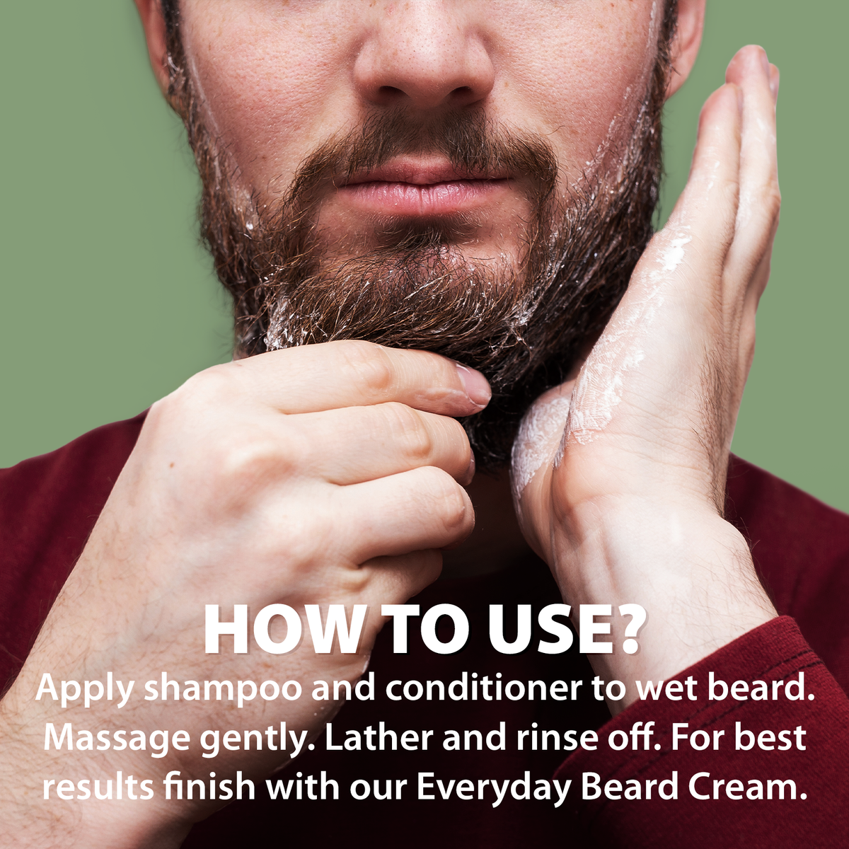 LetsShave Beard & Hair Shampoo + Conditioner 2 in 1 Wash for Soft Shiny Frizz Free Beard, 150 ml