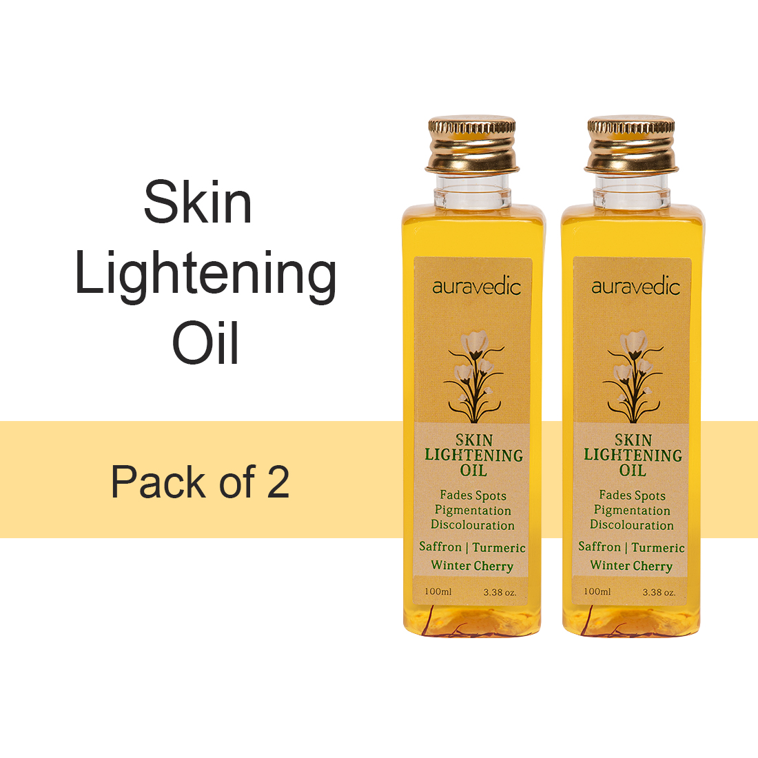 Skin Lightening Oil (Pack Of 2)- Turmeric & Winter Cherry