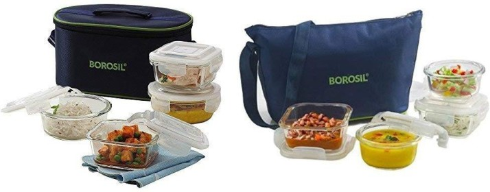 Borosil Universal And Daisy Lunch Box Combo 8 Containers Lunch Box????????????????(2240 Ml)
