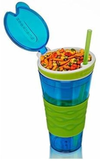 Snackeez Plastic 2 in1 Snack and Drink cup