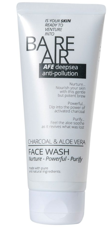 Bare Air Charcoal & Aloe Vera Facewash, 100ml