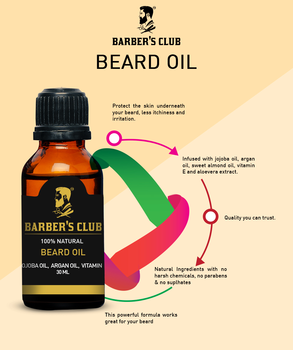Barber's Club Beard Oil with Argan Oil - 30ml