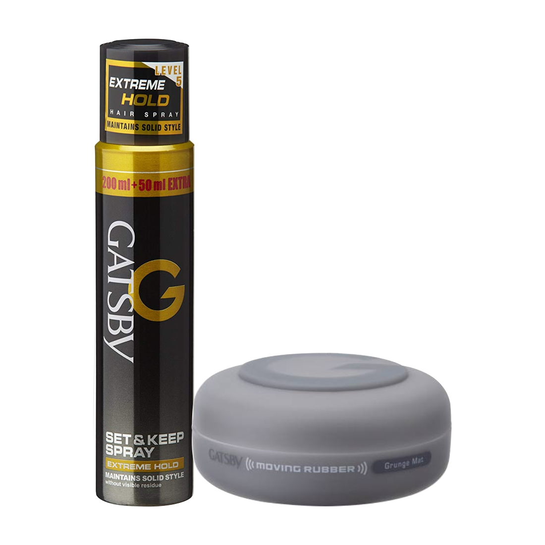 Gatsby Extreme Hold Spray And Grunge Mat Wax Pack Of 2
