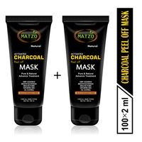 Matzo Natural Activated Charcoal Peel Off Mask -SLS Free Paraben Free ; 200 ML