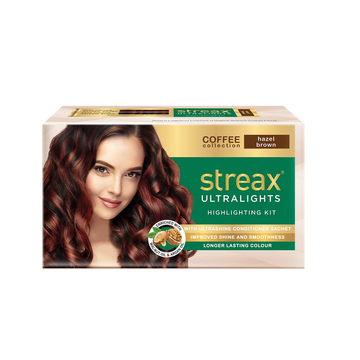 Streax Ultralights Highlighting Kit-Coffee Collection-Hazel Brown-Pack of 2 Hair Color????????(Hazel Brown)