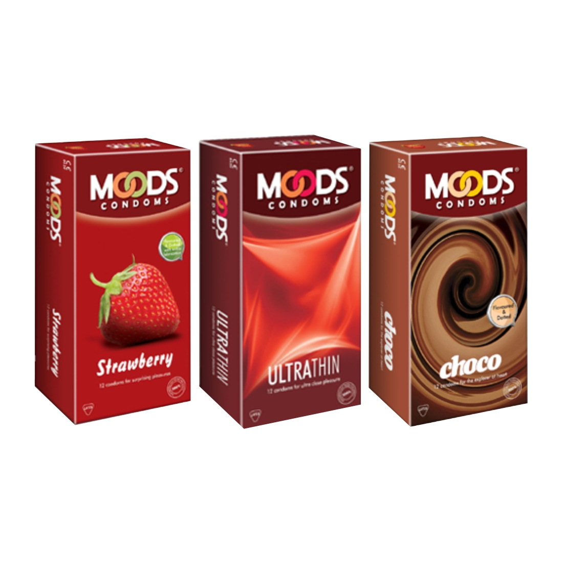 Moods 12S Strawbery Ultrathin And Choco Pack Of 3 Condom