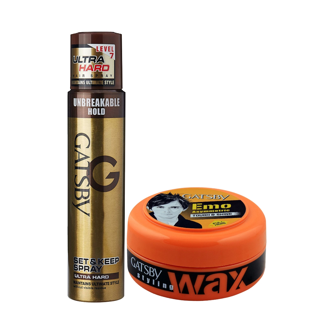 Gatsby Ultra Hard Spray And Tough N Shine Wax Pack Of 2