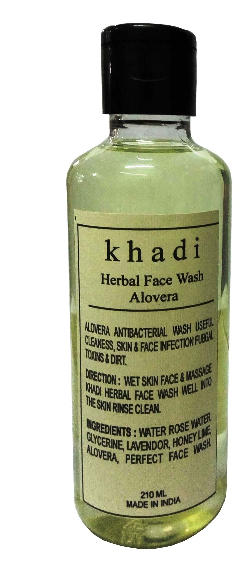 Khadi Herbal Aloevera Face Wash, 210ml - Pack of 1