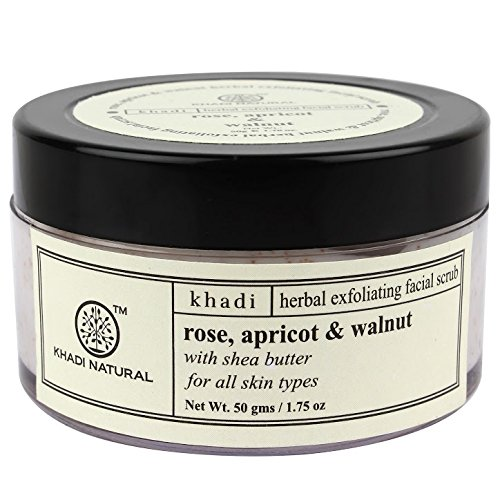 Khadi Herbal Rose, Apricot & Walnut Facial Scrub With Shea Butter