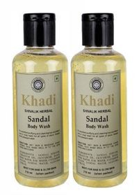 Khadi herbal Sandal Body Wash, 210ml - Pack of 2
