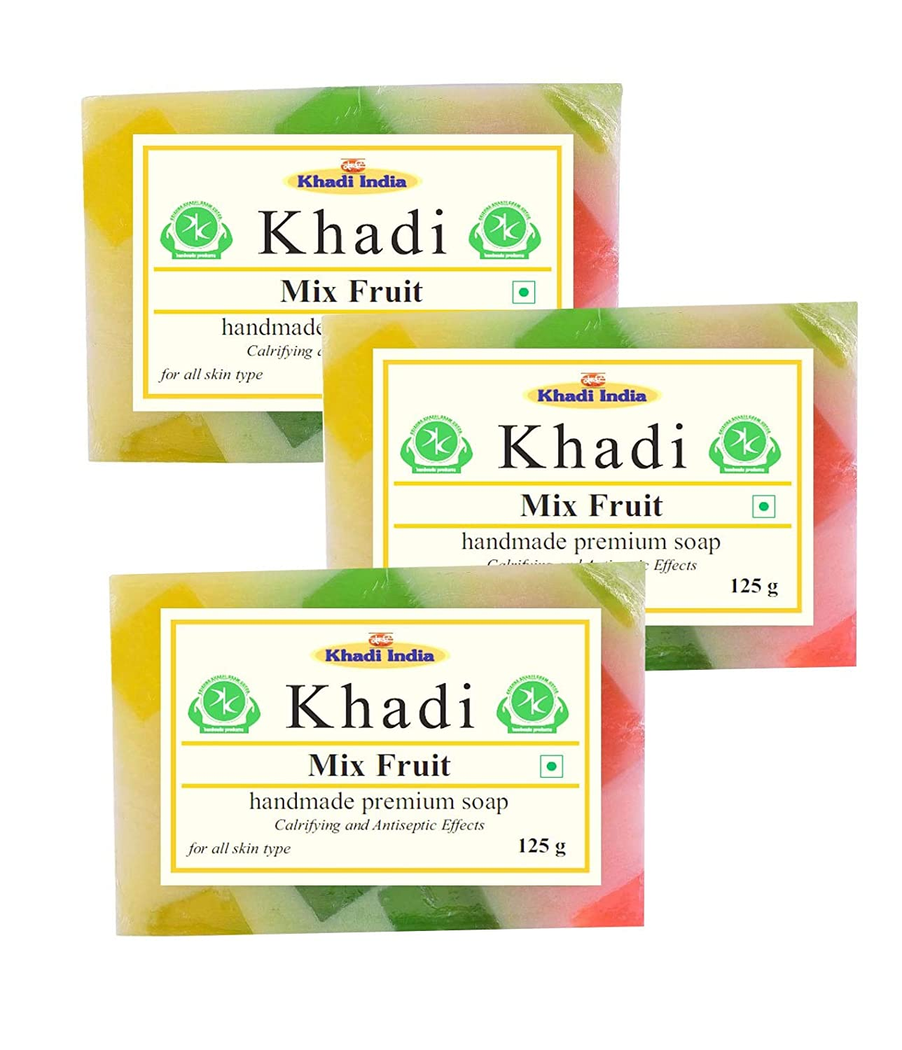 Khadi Mix Fruit Soap 375gm (Pack of 3)