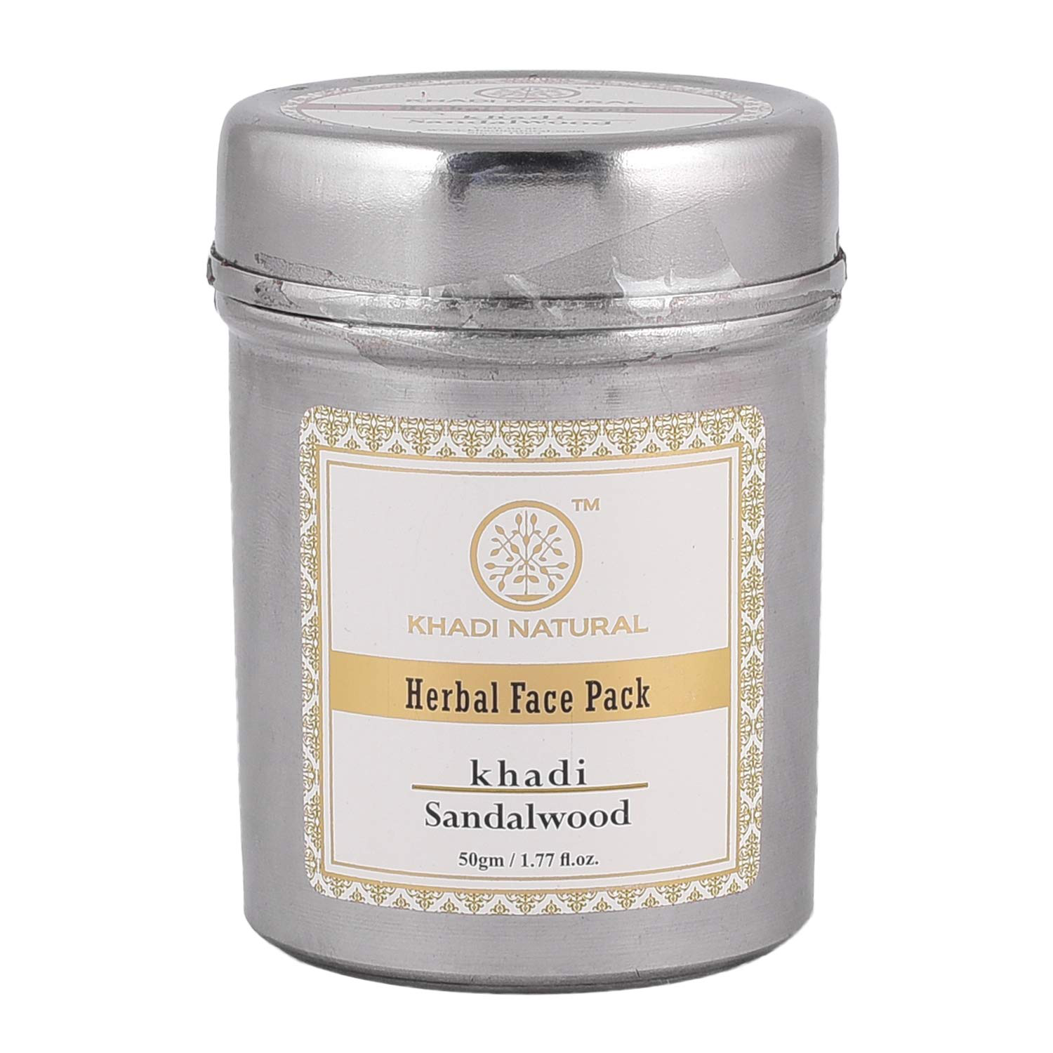 Khadi Herbal Sandalwood Face Pack (50g each,Pack of 2)