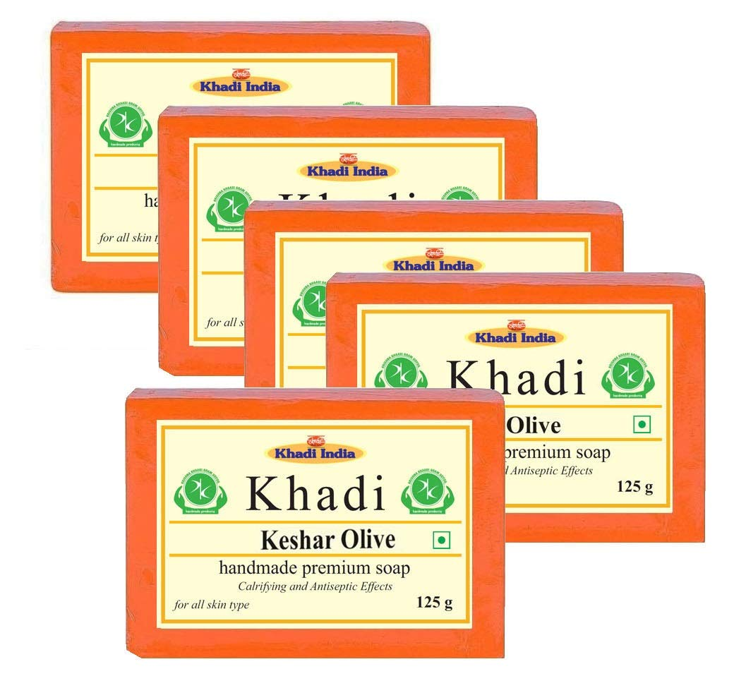 Khadi Herbal Keshar Olive Soap 625gm (Pack of 5)