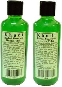 Khadi Herbal Henna Tulsi Shampoo, 210ml - Pack of 2