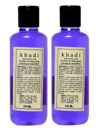 Khadi herbal Lavender Body wash, 210ml - Pack of 2