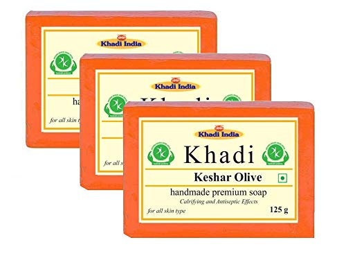 Khadi Herbal Keshar Olive Soap 125gm (Pack of 3)