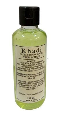 Khadi herbal Neem Tulsi  Face & Tulsi  Face Body wash, 210ml - Pack of 1