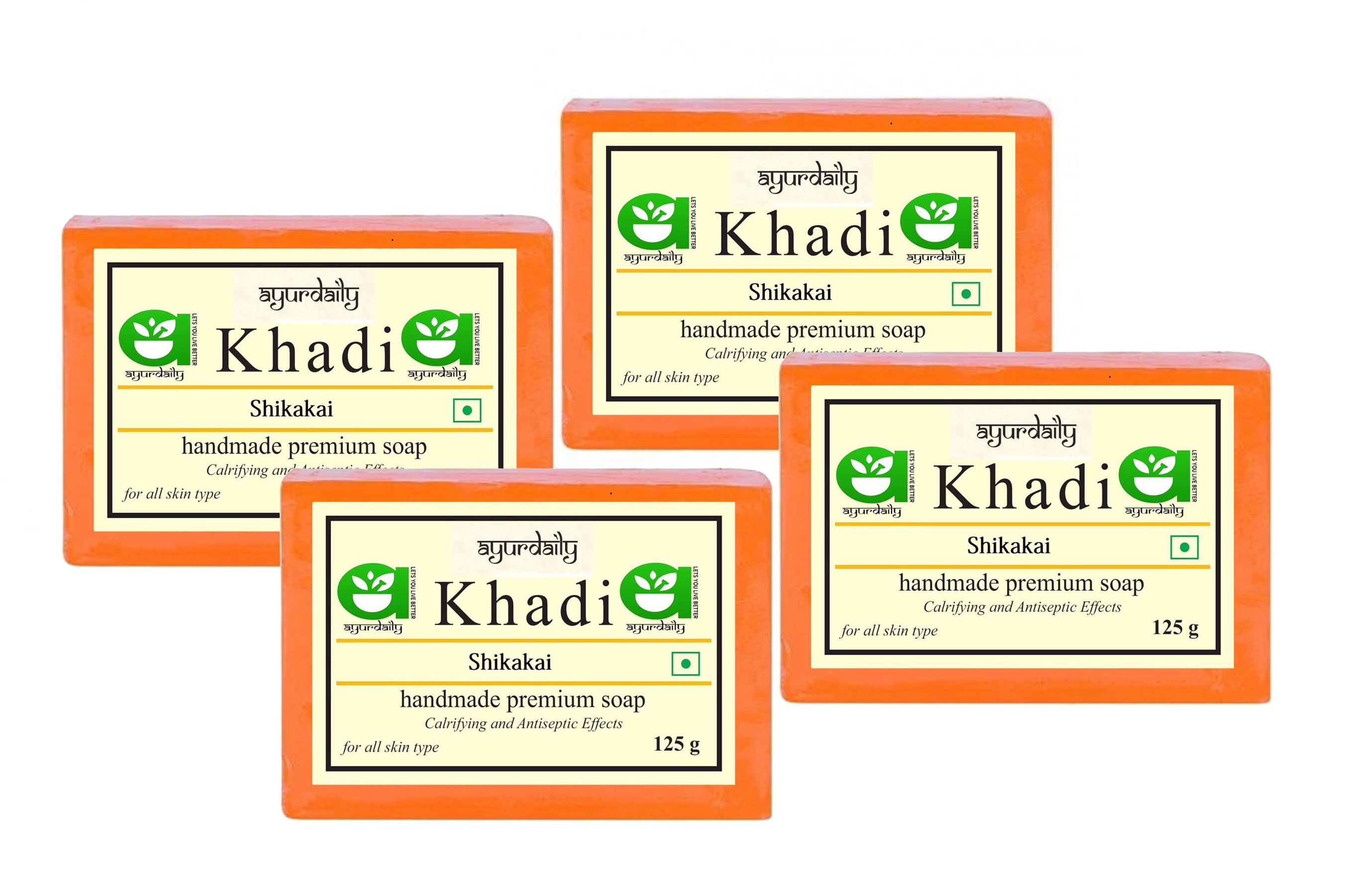 Ayurdaily Khadi Shikakai Soap - Pack of 4