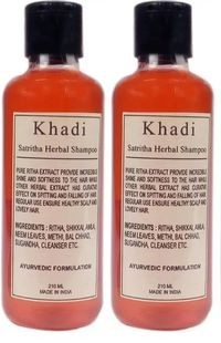 Khadi Herbal Satritha Shampoo, 210ml - Pack of 2