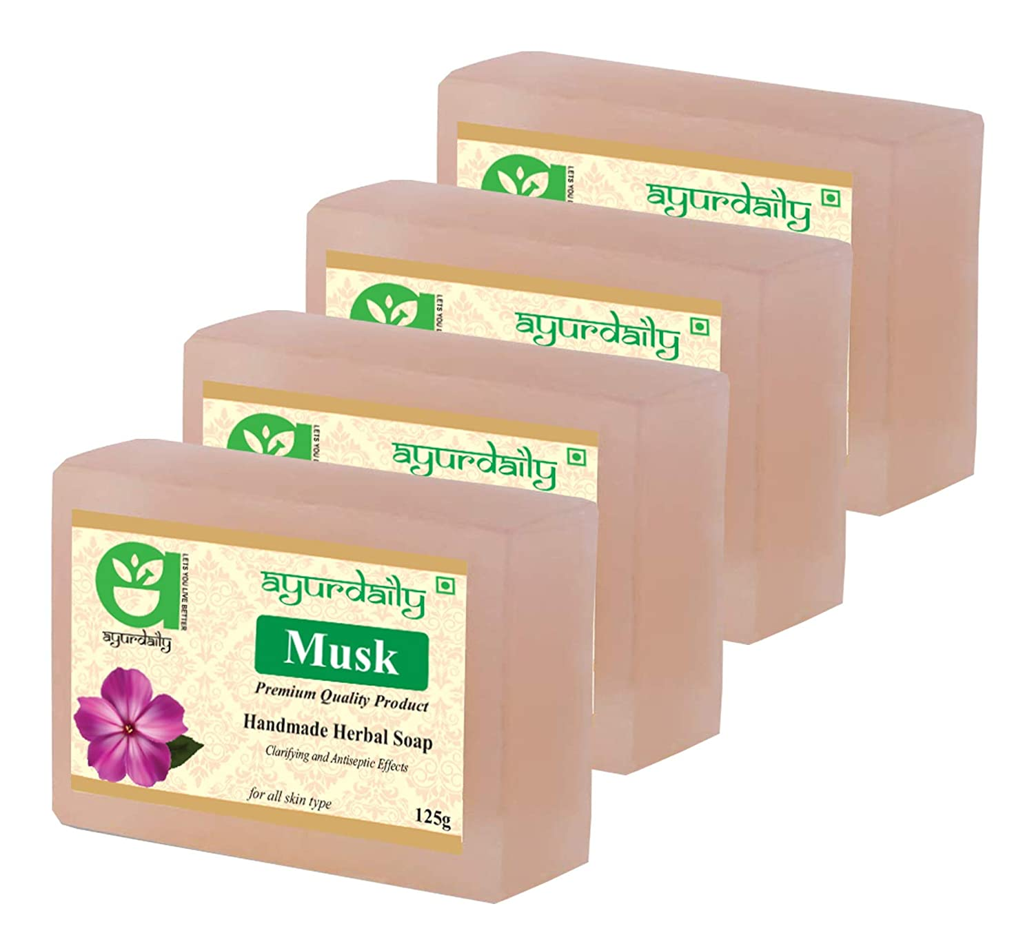 Ayurdaily Herbal Musk Soap 500gm (Pack 4)