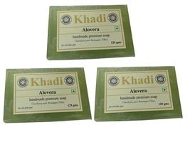 Khadi Aloevera Soap 375gm ( Pack of 3)