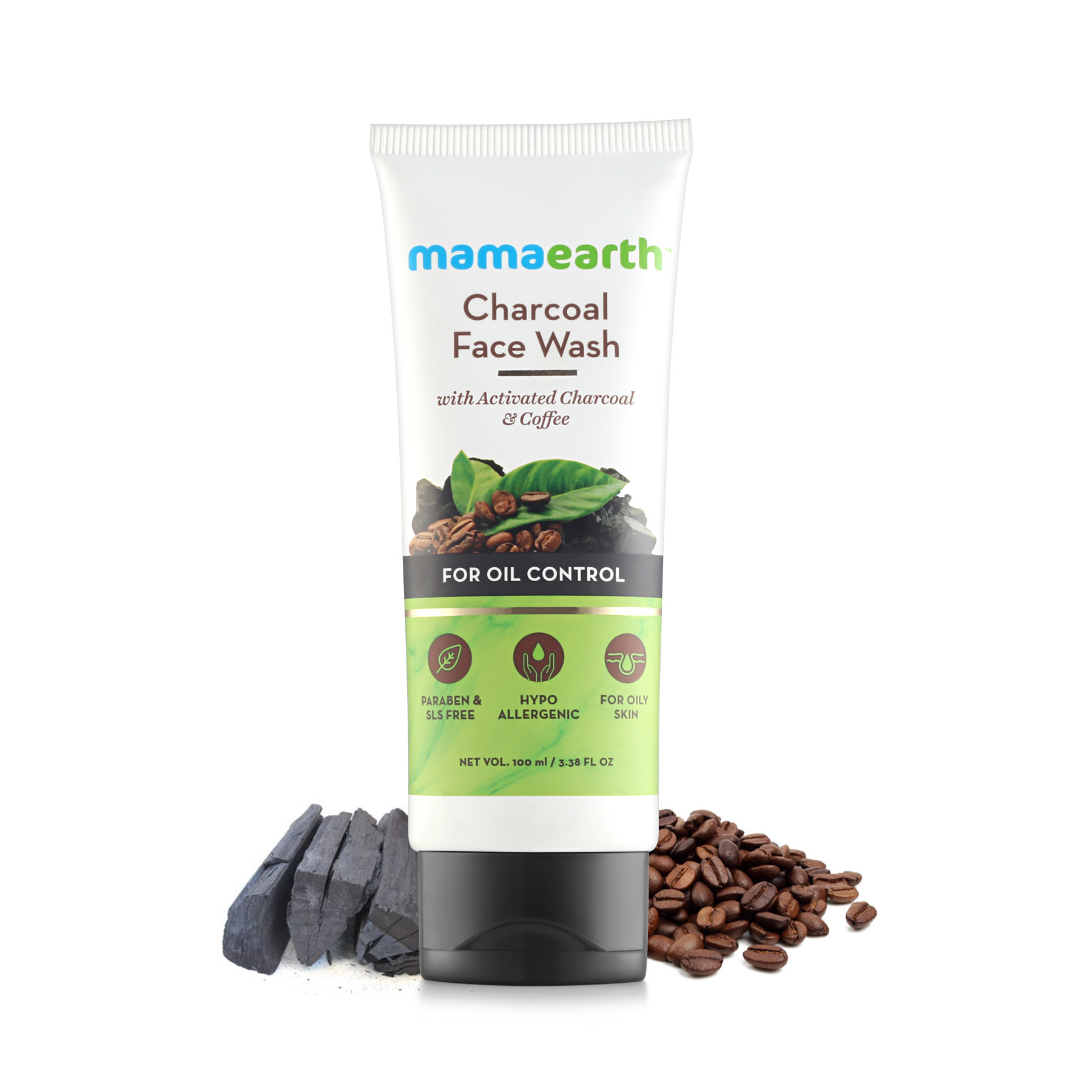 Mamaearth Charcoal Natural Face Wash For Oil Control And Pollution Defence