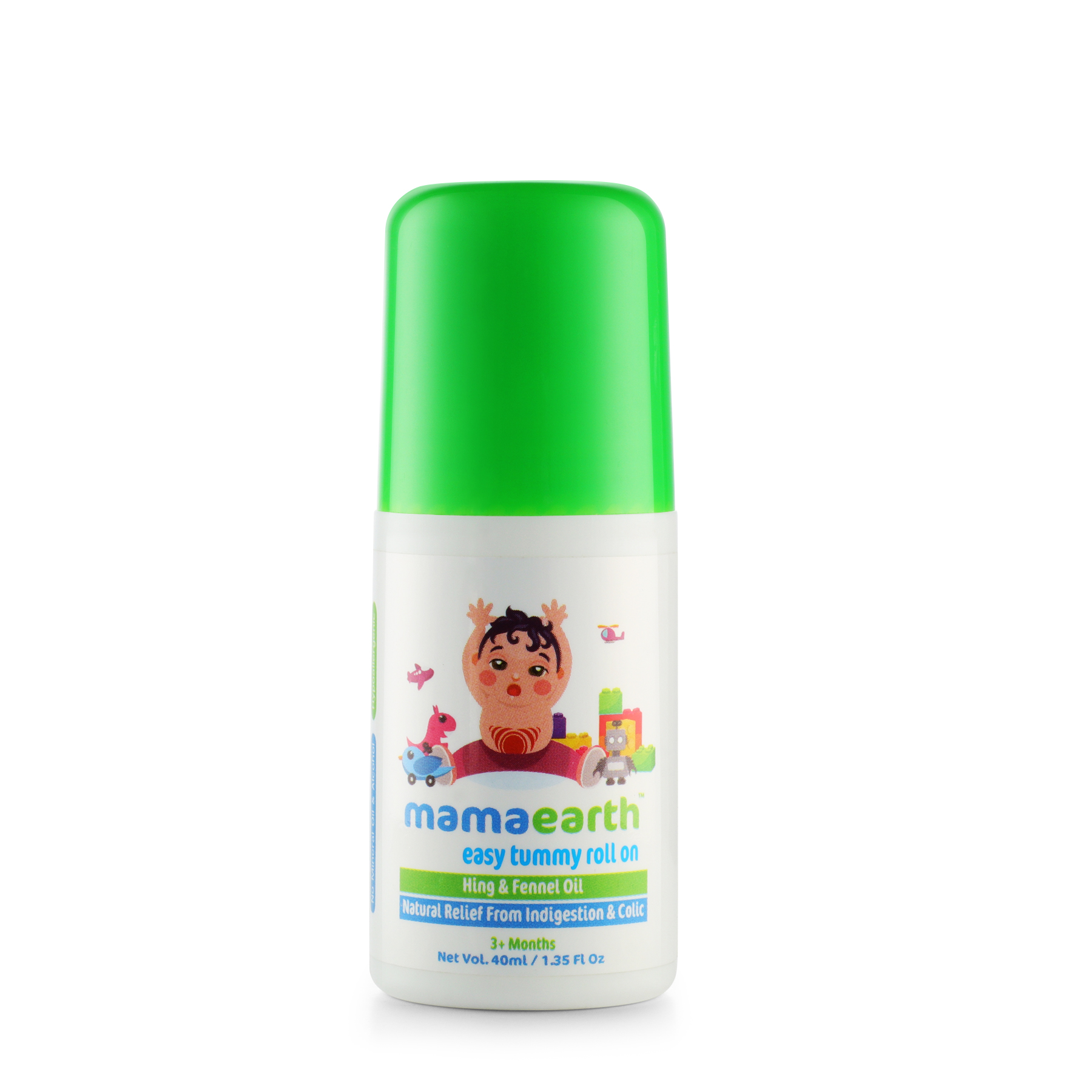 Mamaearth Easy Tummy Roll On For Digestion And Colic Relief- Hing And Fennel