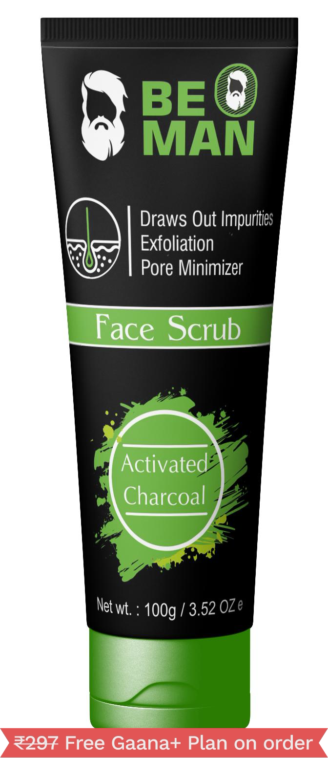 Be O Man Activated Charcoal Face Scrub