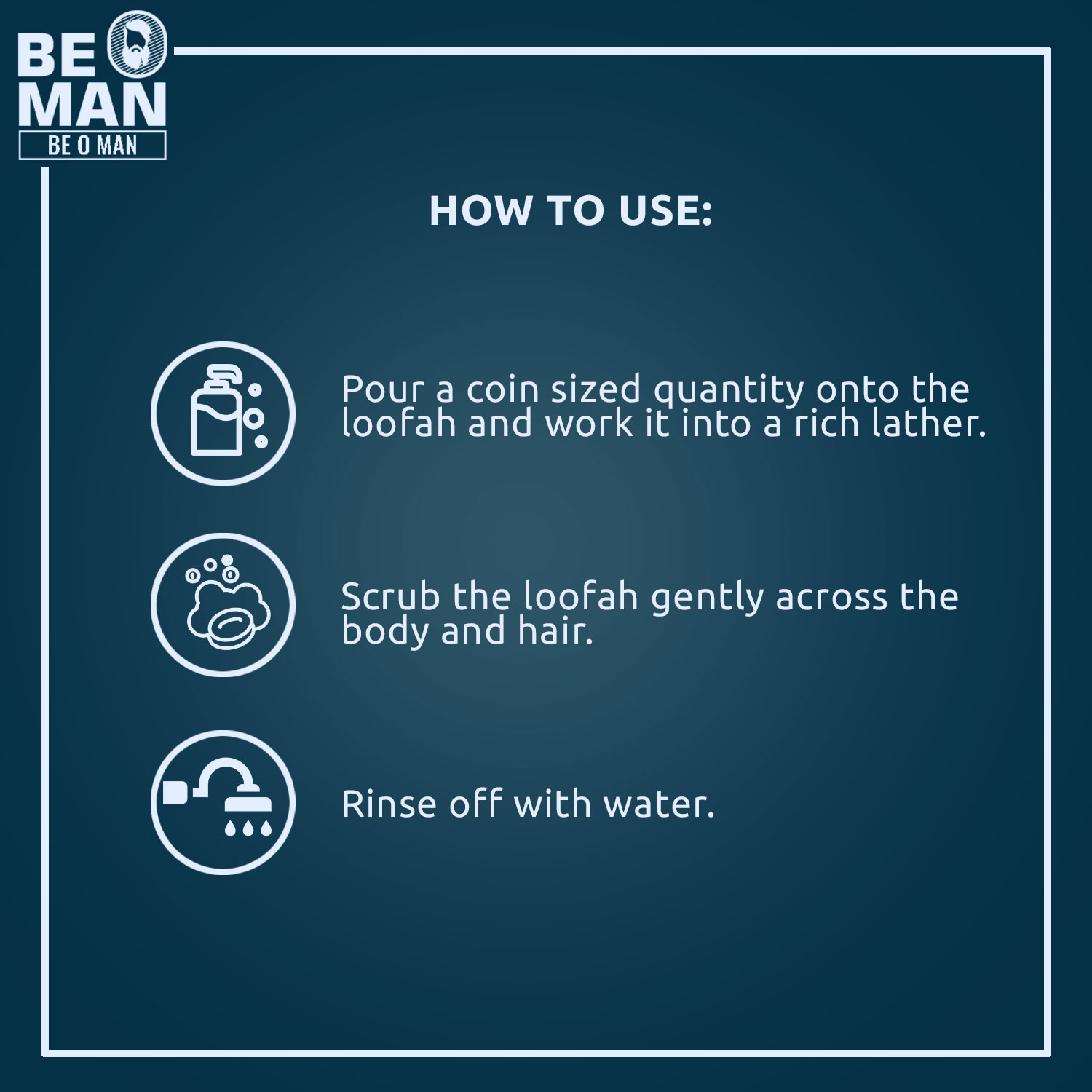 Be O Man 3 in 1 Shower Gel for Hair, Face and Body