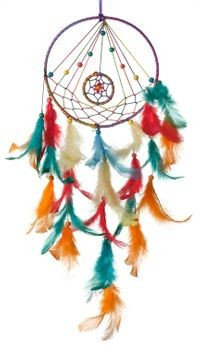Rooh Dream Catcher ~ Multi Colour Dual Ring ~ Handmade Hangings For Positivity
