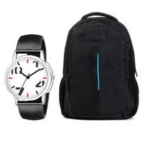 Vera Mode Combo of Analog Watch and Bag