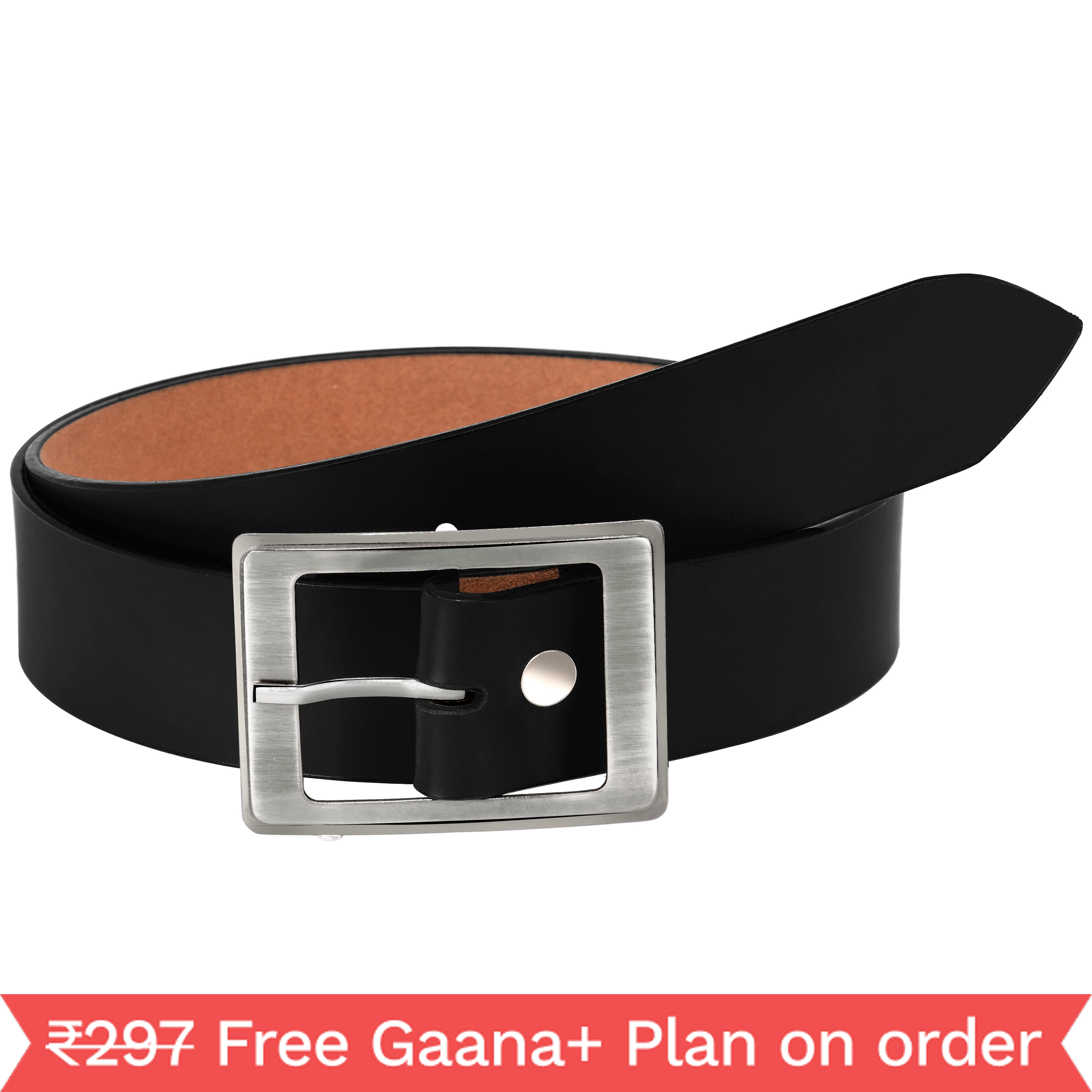 Lazaro BlackArtificial Leather Belt for Men