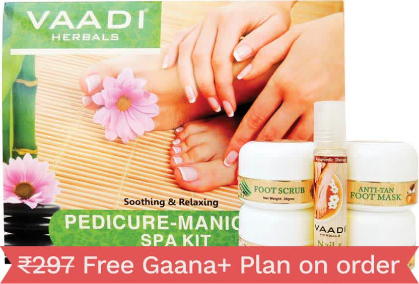 Vaadi Herbals Pedicure Manicure Kit With Nail & Cuticle Oil - 640gm