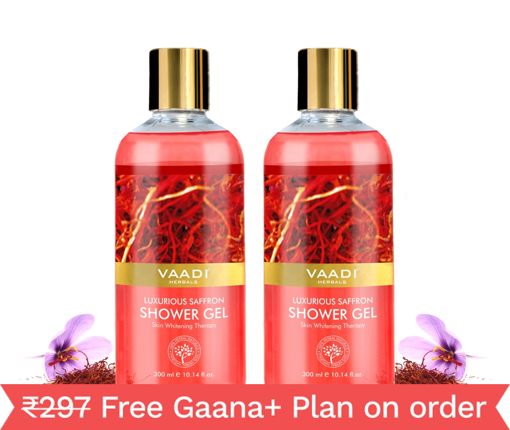 Vaadi Herbals Pvt Ltd Value Pack of 2  Luxurious Saffron Shower Gel (300ml)
