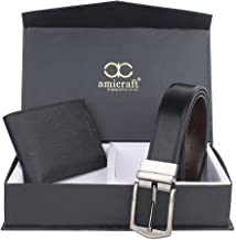 Amicraft Black Leather Wallets For Men