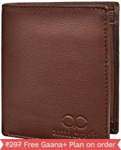 Amicraft Brown Leather Wallets For Men