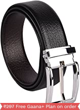 Amicraft Brown Leather Belt-Revirseble For Men