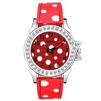 Lorenz Red Leather Analog Watch