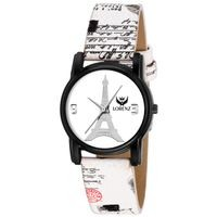Lorenz White Leather Analog Watch