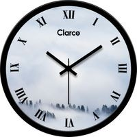 Clarco Designer Analogue Round Glass Wall Clock- Size(30 cm x 30 cm x 4 cm)(WL_718L)