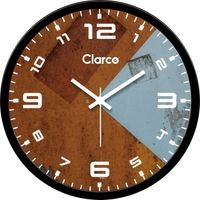 Clarco Designer Analogue Round Glass Wall Clock with 1 Year Warranty And 2 FREE AA Battery, Size(30 cm x 30 cm x 4 cm)(WL_736L)