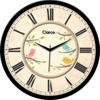 Clarco Designer Analogue Round Glass Wall Clock- Size(30 cm x 30 cm x 4 cm)(WL_729L)
