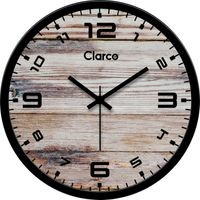 Clarco Designer Analogue Round Glass Wall Clock- Size(30 cm x 30 cm x 4 cm)(WL_735L)
